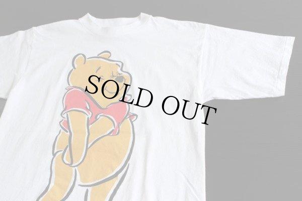 画像1: 90s USA製 Pooh クマのプーさん Tシャツ 白 L