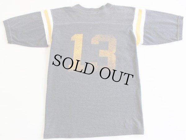画像2: 80s JAMES GANG 13 フットボールTシャツ 黒