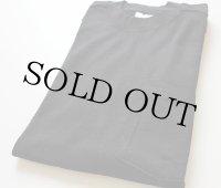 90sデッドストック USA製 BVD 無地 ポケットTシャツ 黒 L
