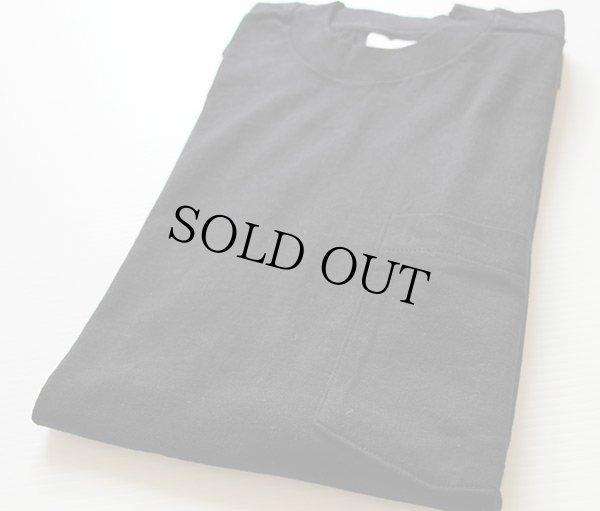 画像1: 90sデッドストック USA製 BVD 無地 ポケットTシャツ 黒 L