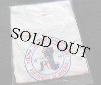 60sデッドストック BSAボーイスカウト NATIONAL JAMBOREE 染み込みプリント Tシャツ 白 16