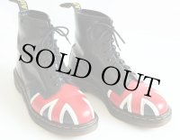 英国製 DR.MARTENSドクターマーチン ユニオンジャック 8ホールブーツ 黒 UK8