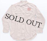 50s Lee フィリップス66  ワークシャツ マチ付き