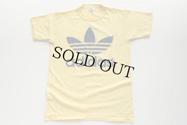 画像2: 80s USA製 adidasアディダス トレフォイル ビッグロゴ Tシャツ 黄 M