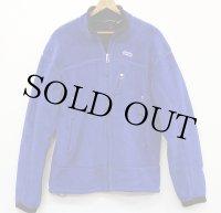 00s USA製 patagoniaパタゴニア R4 フリースジャケット 青 L★刺繍ロゴ