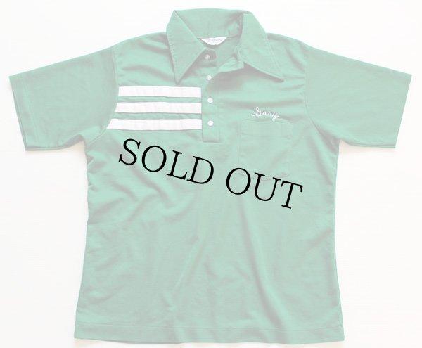 画像2: 70s NAT NAST チェーン刺繍 ボウリングシャツ 緑