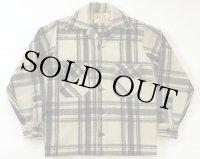 50's JUMBO JAC ウールシャツジャケット 白×黒