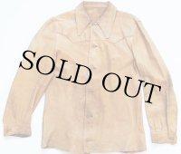 70s ディアスキン レザーシャツジャケット