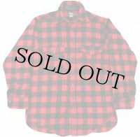 50s Woolrichウールリッチ バッファローチェック ウールシャツ 赤×黒 15