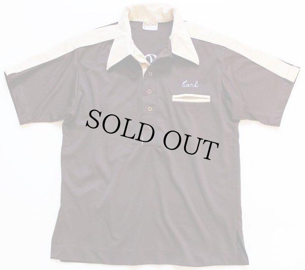画像2: 70s USA製 King Louieキングルイ チェーン刺繍 ボウリングシャツ M