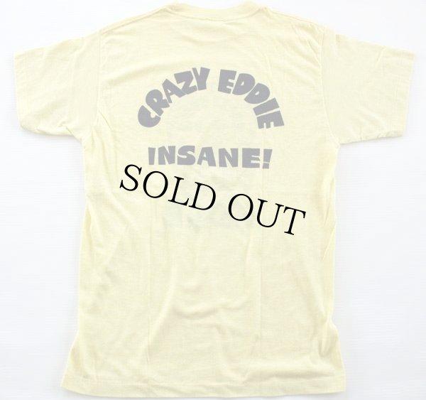 画像2: 80s USA製 CRAZY EDDIE 染み込みプリント Tシャツ 黄 L