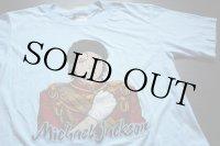 80s USA製 Michael Jacksonマイケルジャクソン Tシャツ 水色 L