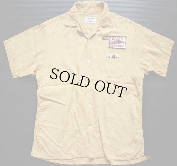 画像2: 50s Crown Prince チェーン刺繍 レーヨン ボウリングシャツ L