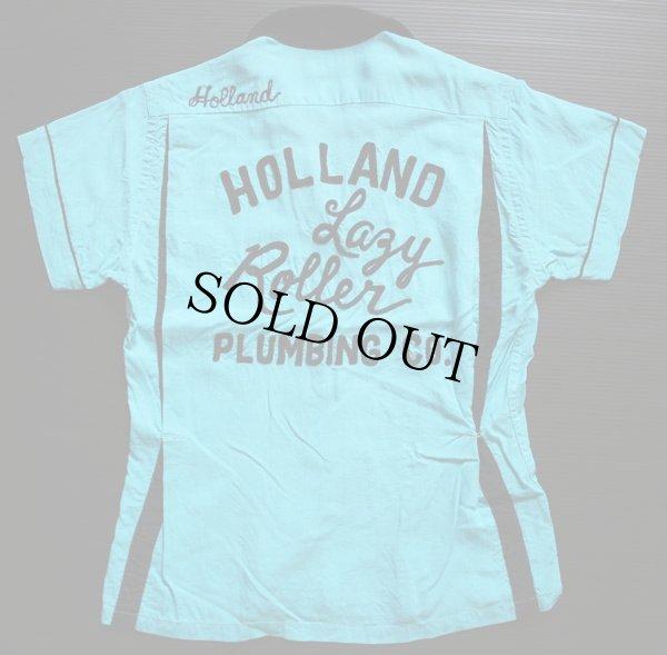画像1: 50s Hiltonヒルトン チェーン刺繍 レーヨン ボウリングシャツ ツートン