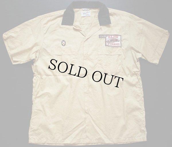 画像2: 50s CROWN IMPERIAL チェーン刺繍 コットン ボウリングシャツ L