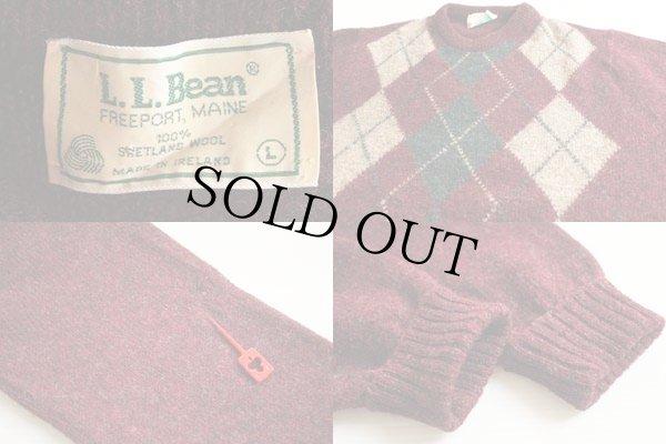 画像3: 80s アイルランド製 L.L.Bean アーガイル柄 ウールニット セーター L