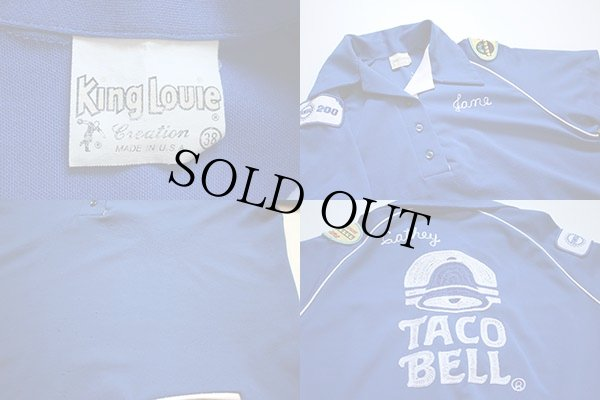 画像3: 70s King Louieキングルイ TACO BELL チェーン刺繍 ボウリングシャツ 38