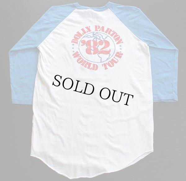画像2: 80s USA製 DOLLY PARTONドリーパートン ツアー ラグラン 七分袖Tシャツ L