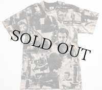 90s USA製 JAMES DEANジェームスディーン 手刷り オールオーバープリント コットンTシャツ S★モスキートヘッド