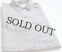 60sデッドストック USA製 Miller コットン ワークシャツ グレー S