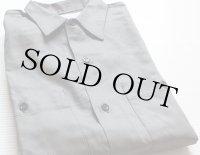 60sデッドストック USA製 UNKNOWN コットン ワークシャツ グレー S