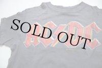 80s USA製 Hanes AC/DC BACK IN BLACK TOUR USA 1980 コットン バンドTシャツ 墨黒 S