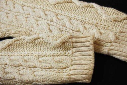 他の写真1: デッドストック★英国製 McKENNAS ケーブル編み ウールニット セーター