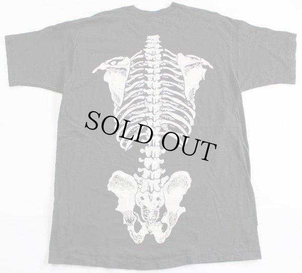 画像3: 90s USA製  人体 骨 コットンTシャツ 黒 XL