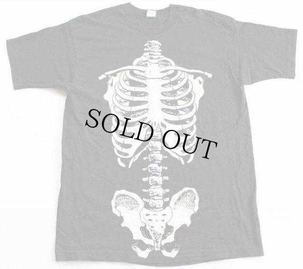 画像2: 90s USA製  人体 骨 コットンTシャツ 黒 XL