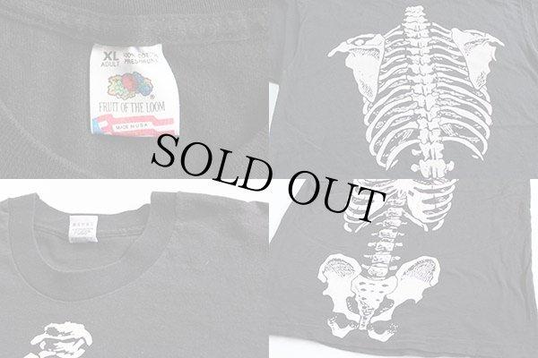 画像4: 90s USA製  人体 骨 コットンTシャツ 黒 XL