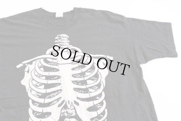 画像1: 90s USA製  人体 骨 コットンTシャツ 黒 XL