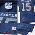画像3: 70s USA製 Championチャンピオン 15 ナンバリング フットボールTシャツ 紺 S (3)