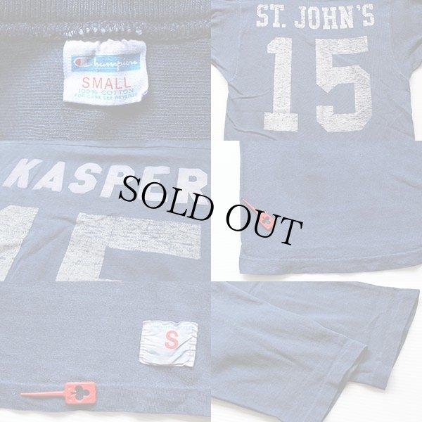 画像3: 70s USA製 Championチャンピオン 15 ナンバリング フットボールTシャツ 紺 S