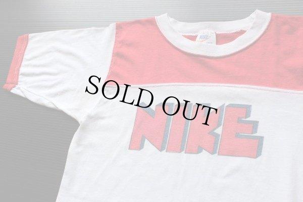 画像1: 70s USA製 NIKE ゴツナイキ 染み込みプリント Tシャツ