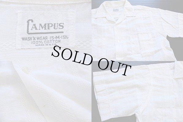画像3: 60s USA製 CAMPUS 半袖コットンシャツ 白 M