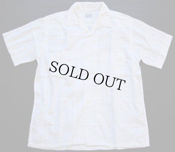 画像1: 60s USA製 CAMPUS 半袖コットンシャツ 白 M