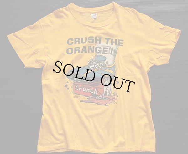 画像2: 70's USA製 CRUSH THE ORANGE Tシャツ 黄 L