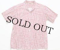 50's Jantzen 総柄 半袖コットンシャツ L