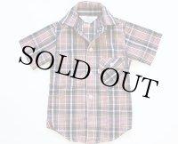 70'sデッドストックUSA製 Levi'sリーバイス 半袖チェックシャツ 4
