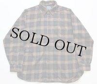 80s USA製 PENDLETONペンドルトン チェック ボタンダウン コットンxウールシャツ