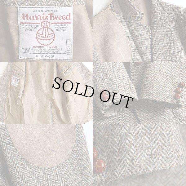 画像3: 英国製 Harris Tweedハリスツイード ヘリンボーン ツイード ハンティングジャケット