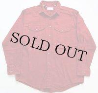 USA製 FILSONフィルソン ヘビーコットンシャツ バーガンディ XL