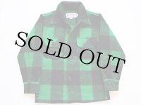 USA製 BEMIDJIベミジ バッファローチェック ウールシャツジャケット 緑×黒 10