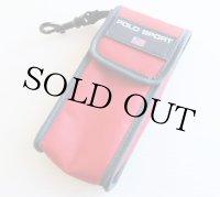 90s ポロ スポーツ ラルフローレン 携帯ケース 赤x紺