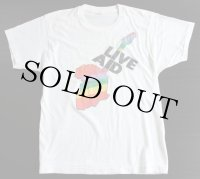 80s USA製 LIVE AID Tシャツ 白 L