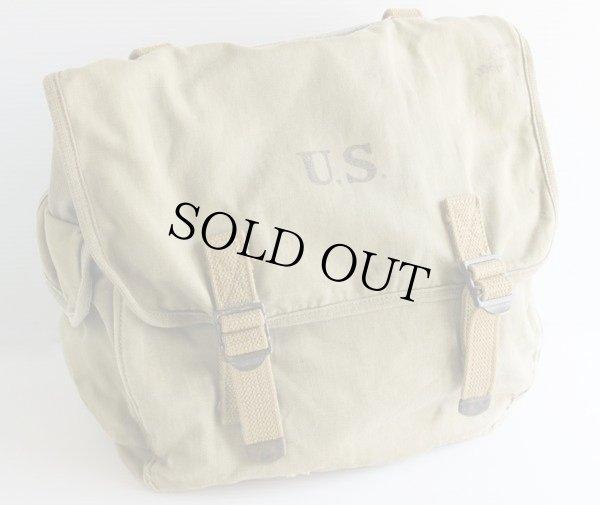 画像1: 40s 米軍 M-1936 USステンシル キャンバス ミュゼットバッグ