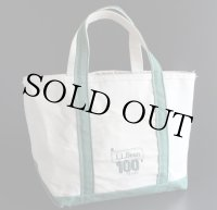 USA製 L.L.Bean BOAT AND TOTE 100YEARS キャンバス トートバッグ 緑 M★100周年