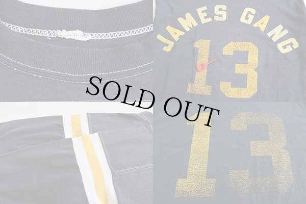 画像3: 80s JAMES GANG 13 フットボールTシャツ 黒