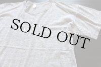 70s USA製 SPORTSWEAR 無地 バインダーネック Tシャツ 杢グレー L