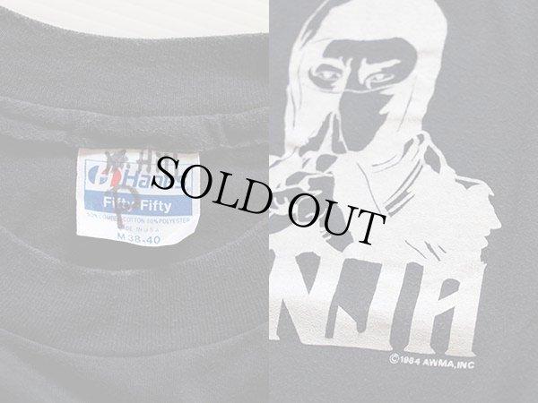 画像3: 80s USA製 NINJA Tシャツ 黒 M★忍者